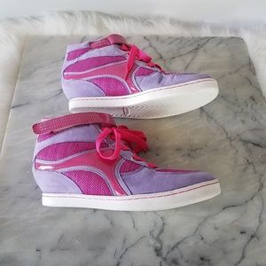 ANDREA Wedge Sneakers Size 4 MEX 24 Purple Pink